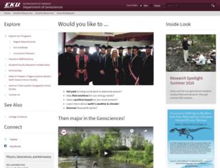 geoscience.eku.edu screenshot