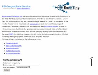 geoservice.psi.enakting.org screenshot