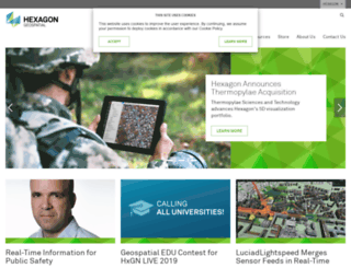 geospatial.intergraph.com screenshot