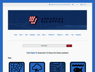 geostor.arkansas.gov screenshot