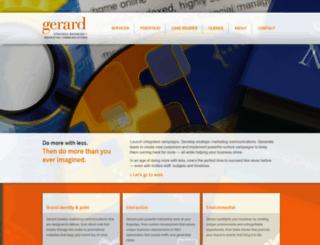 gerardagency.com screenshot