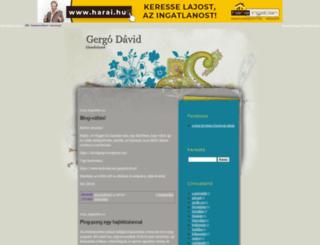 gergodavid.blogger.hu screenshot