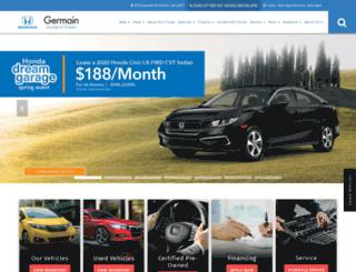 germainhondaofdublin.com screenshot