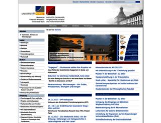 germanistik.uni-bonn.de screenshot