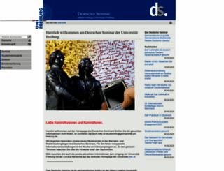 germanistik.uni-freiburg.de screenshot