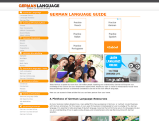 germanlanguageguide.com screenshot