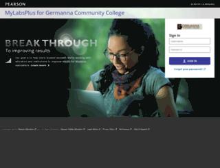 germanna.mylabsplus.com screenshot