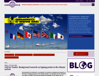 germanwatch.org screenshot