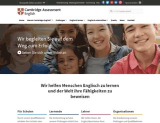 germany.cambridgeenglish.org screenshot