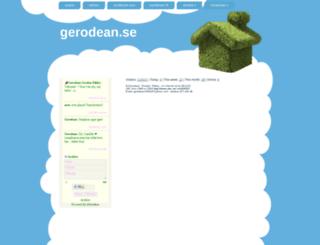 gerodean.se screenshot