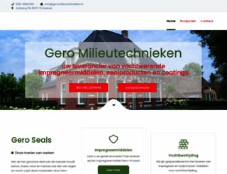 geromilieutechnieken.nl screenshot