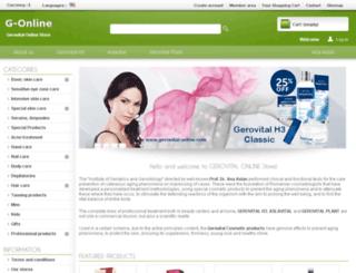 gerovital-online.com screenshot