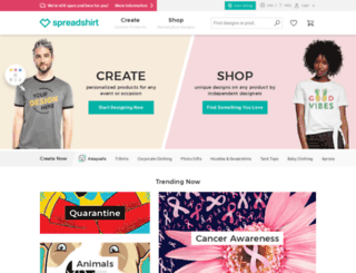 gertierose.spreadshirt.com screenshot