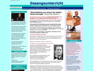 gesangsunterricht-muenchen.net screenshot