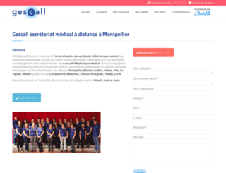 gescall-montpellier.fr screenshot