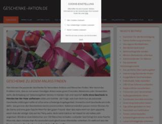 geschenke-aktion.de screenshot