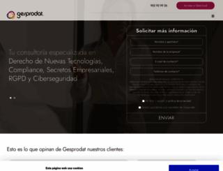 gesprodat.com screenshot
