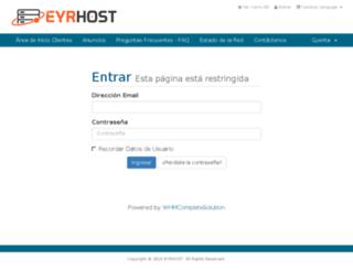 gestion.eyrhost.com screenshot