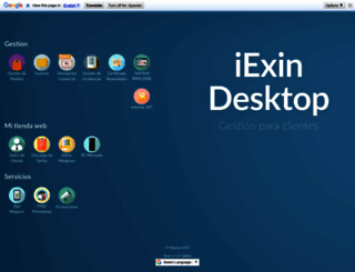 gestion.megasur.es screenshot