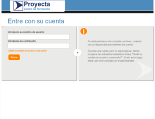 gestion.proyecta.net screenshot