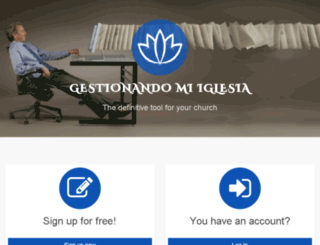 gestionandomiiglesia.com screenshot