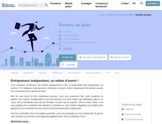 gestiondebase.be screenshot