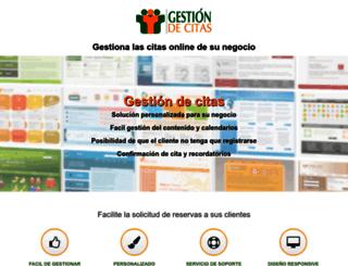 gestiondecitas.com screenshot