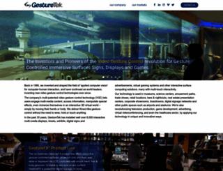 gesturetek.com screenshot