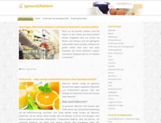 gesund-futtern.de screenshot