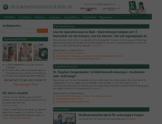 gesundheitsberater-berlin.de screenshot