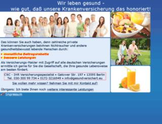 gesundversichert.eu screenshot