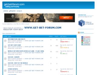 get-bet.bigforumpro.com screenshot
