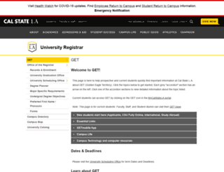 get.calstatela.edu screenshot