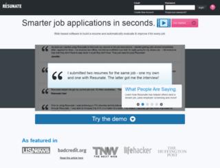 get.resunate.com screenshot