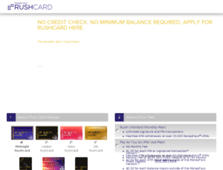 get.rushcard.com screenshot