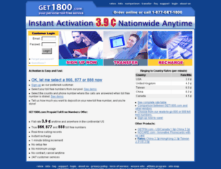 get1800.com screenshot