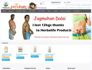 get2shape.com screenshot