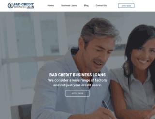 getabadcreditbusinessloan.com screenshot