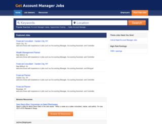 getaccountmanagerjobs.com screenshot