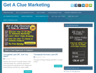 getacluemarketing.com screenshot