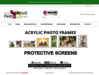 getacrylicphotoframes.co.uk screenshot