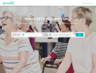 getactivelondon.com screenshot