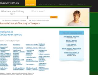 getalawyer.com.au screenshot