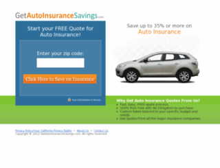 getautoinsurancesavings.com screenshot