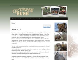 getawaybush.co.za screenshot