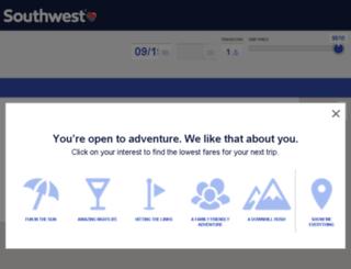 getawayfinder.southwest.com screenshot