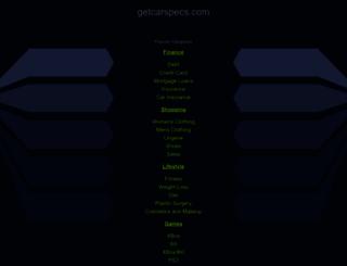getcarspecs.com screenshot