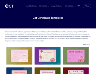 getcertificatetemplates.com screenshot