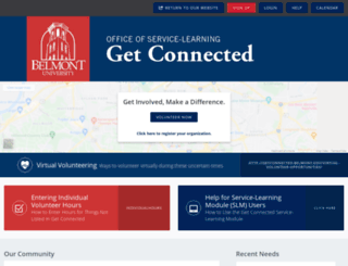 getconnected.belmont.edu screenshot