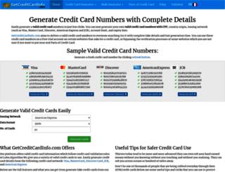 getcreditcardinfo.com screenshot